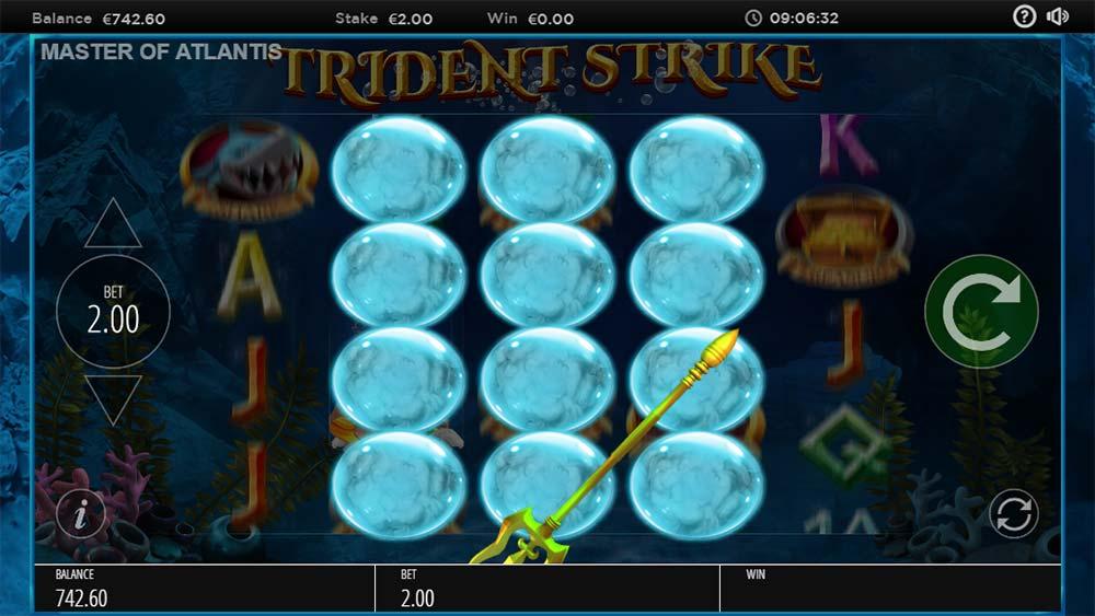 Master of Atlantis Slot - Trident Strike Feature