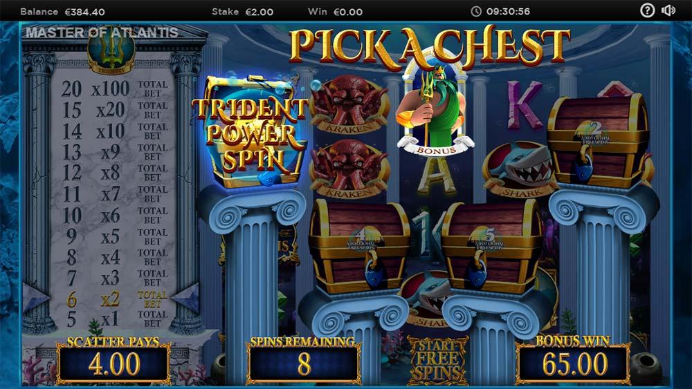 Master of Atlantis Slot - Bonus Picking Feature