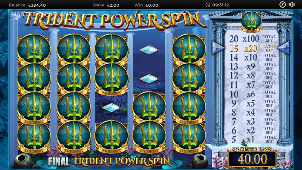 Master of Atlantis Slot - Trident Power Spin Feature