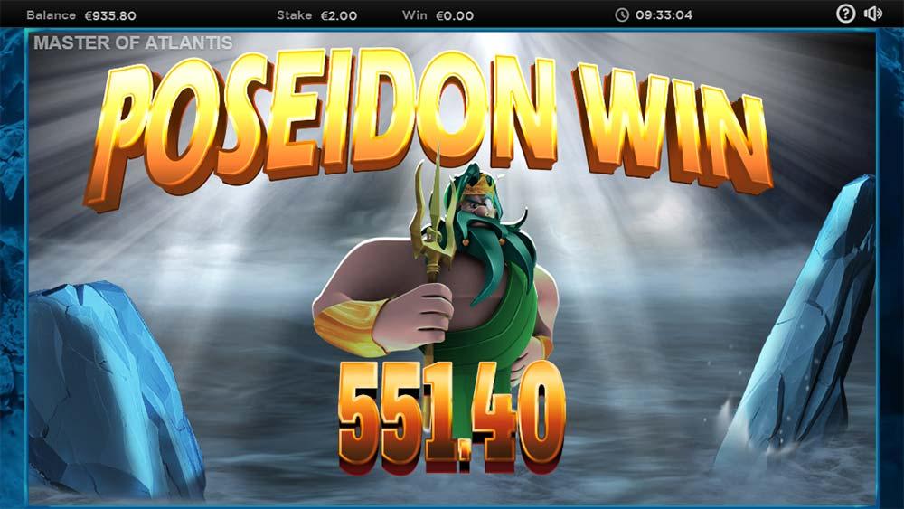 Master of Atlantis Slot - Poseidon Win