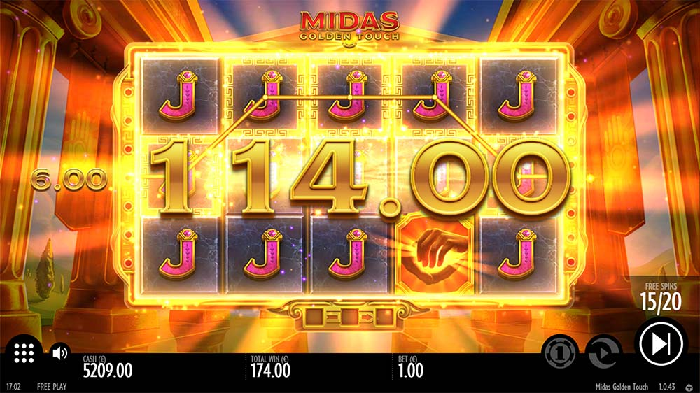 Midas Golden Touch Slot - Big Win