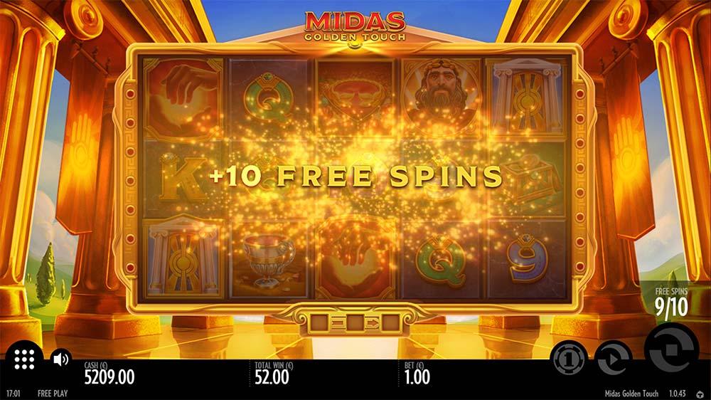 Midas Golden Touch Slot - Bonus Re-Trigger