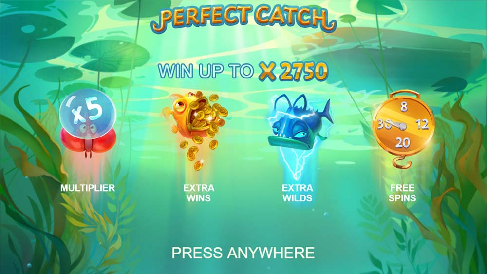Perfect Catch Slot - Intro Screen