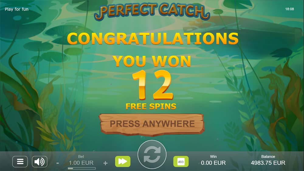 Perfect Catch Slot - Free Spins