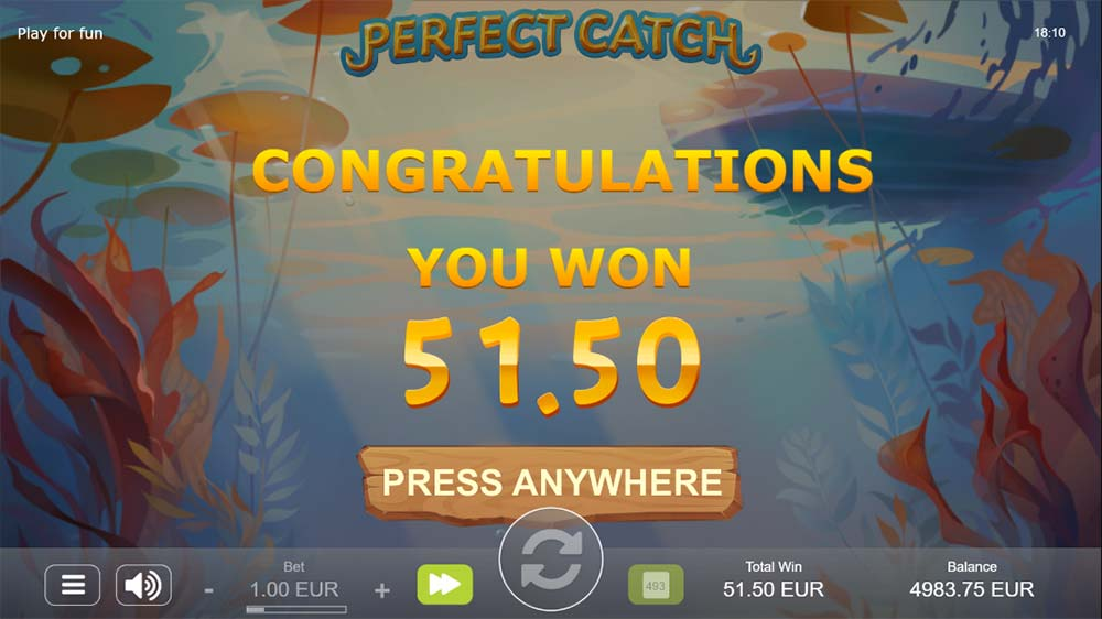 Perfect Catch Slot - Bonus End