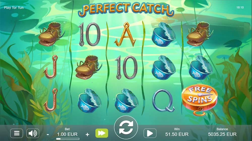 Perfect Catch Slot - Free Spins Trigger