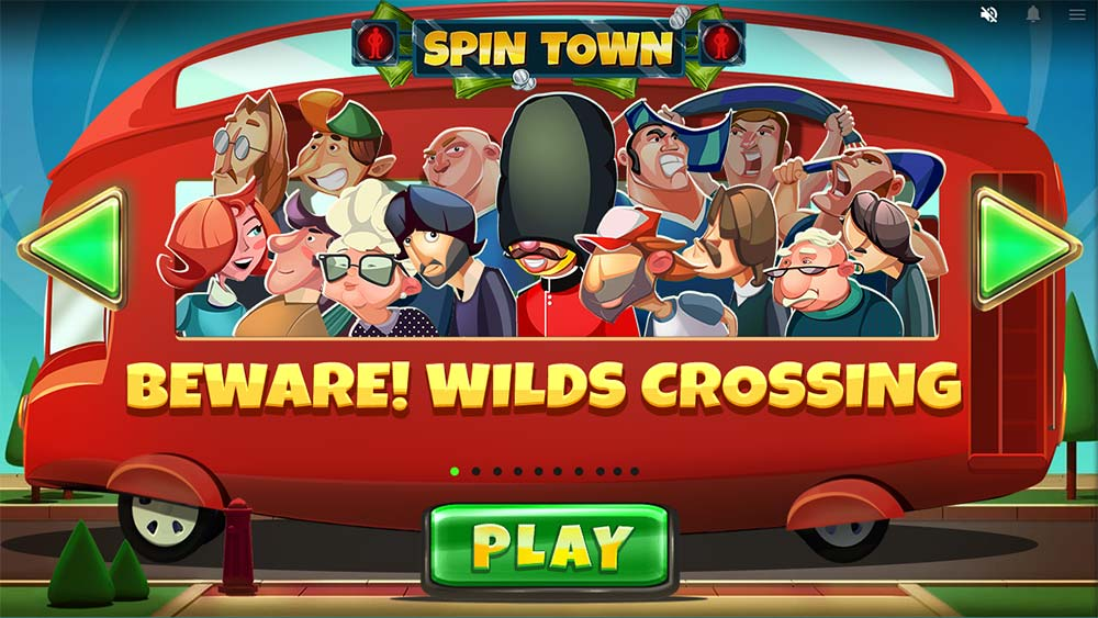 Spin Town Slot - Intro Screen