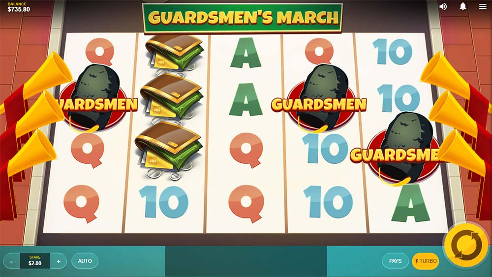 Spin Town Slot - Guardsmen March Feature Trigger