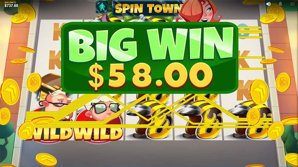 Spin Town Slot - Big Win