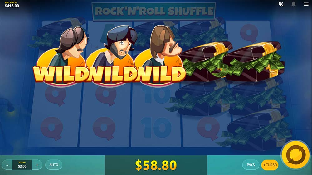 Spin Town Slot - Rock 'n' Roll Shuffle Feature