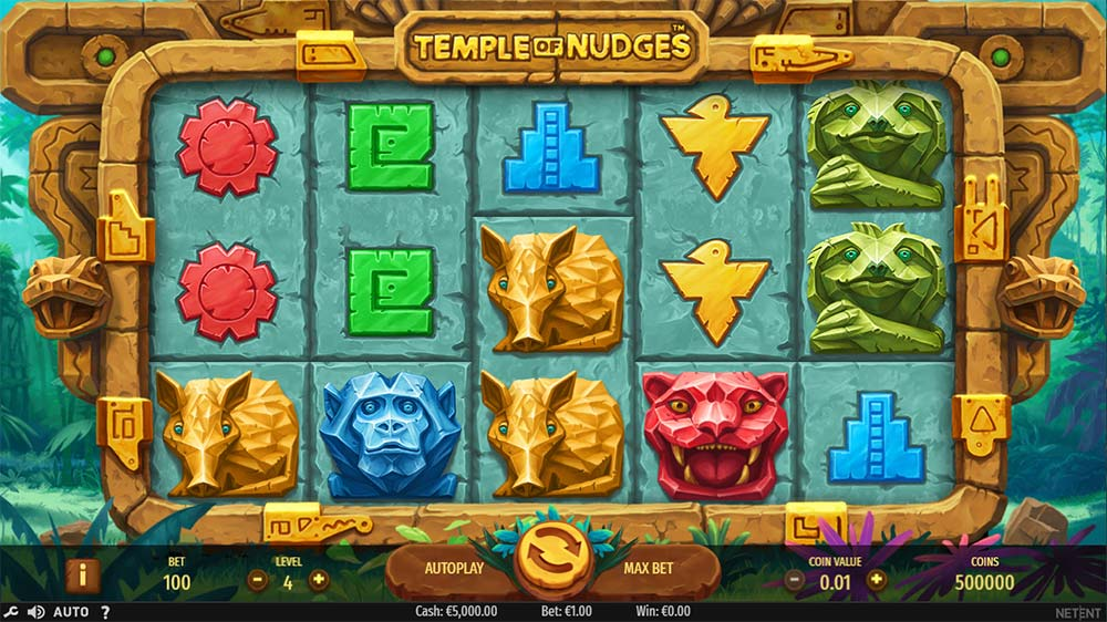 Temple of Nudges Slot - Base Gameplay