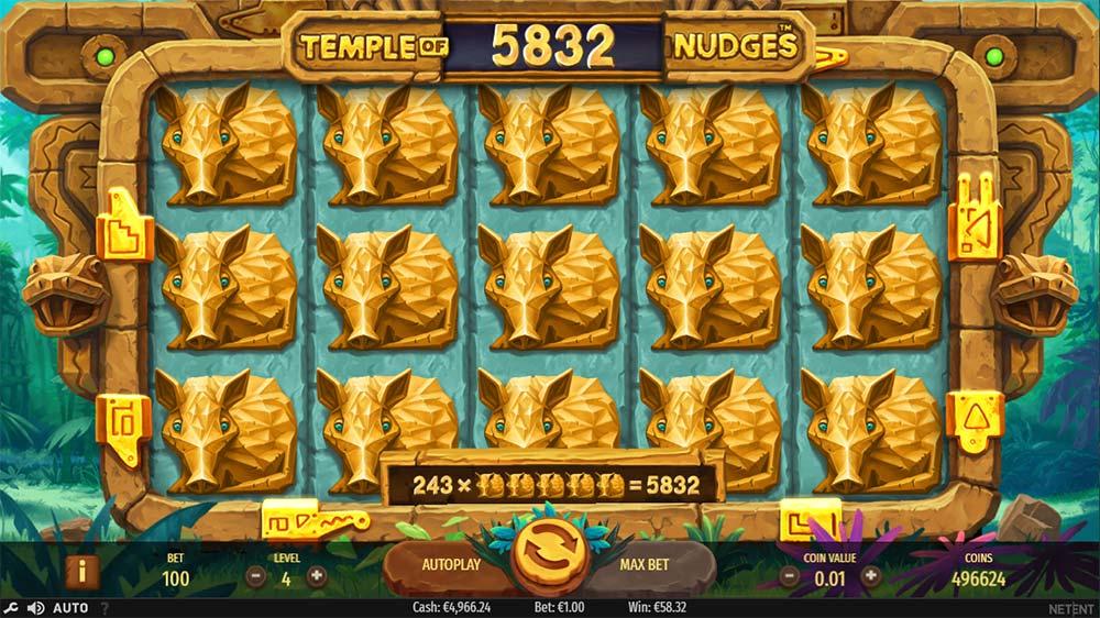 Temple of Nudges Slot - Big Win