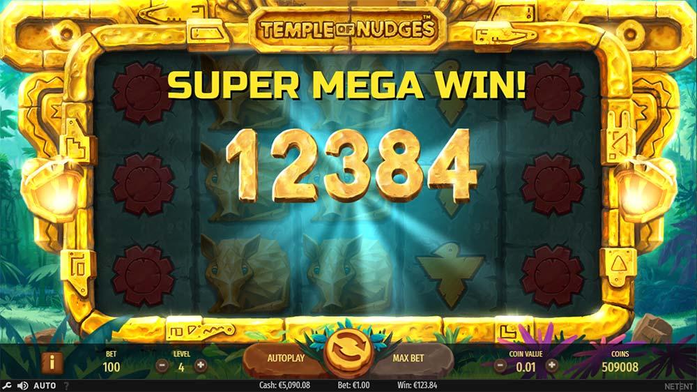 Temple of Nudges Slot - Super Mega Win