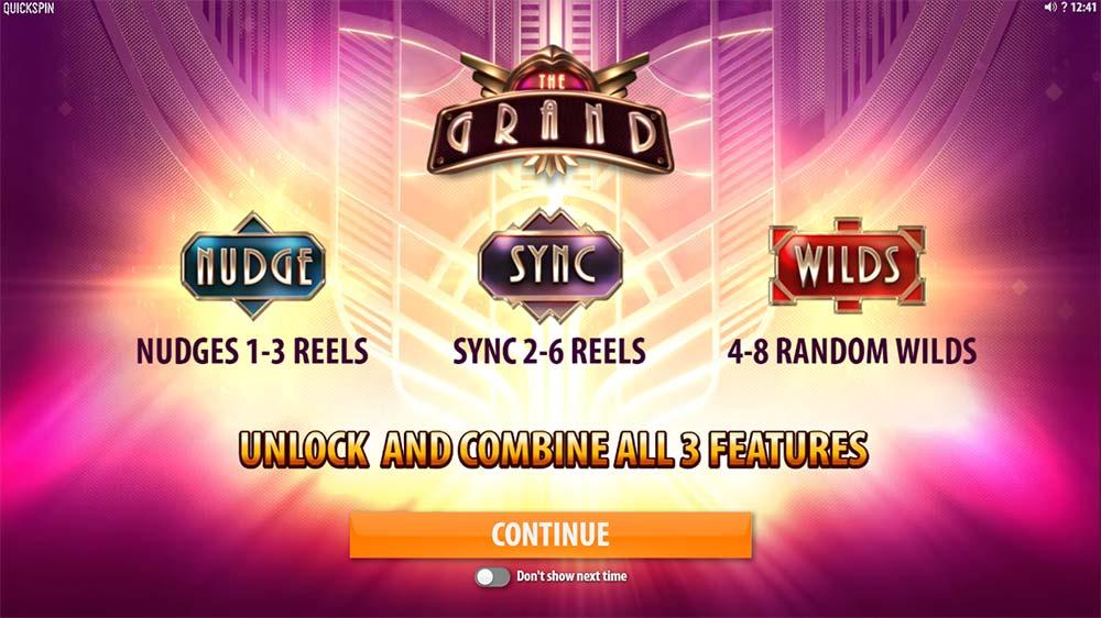 The Grand Slot - Intro Screen