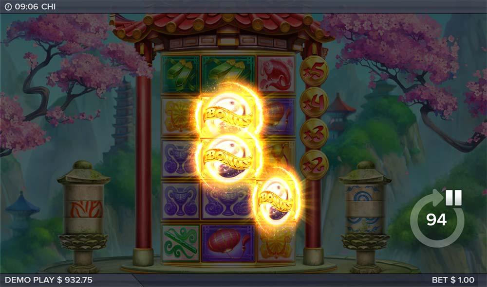 Chi Slot - Stairway to Fortune Bonus Trigger