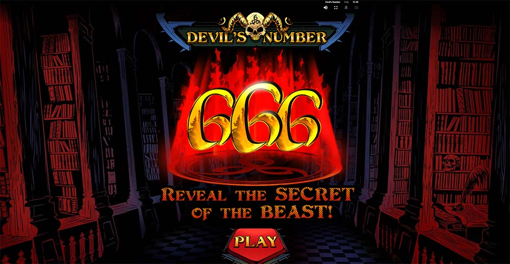 Devil's Number Slot - Intro Screen
