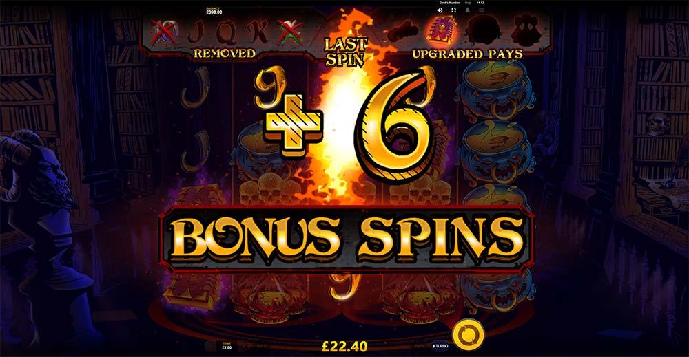 Devil's Number Slot - Bonus Re-Trigger