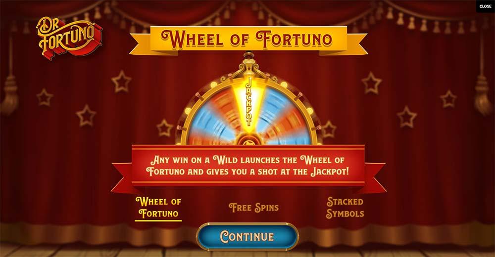 Dr Fortuno Slot - Intro Screen