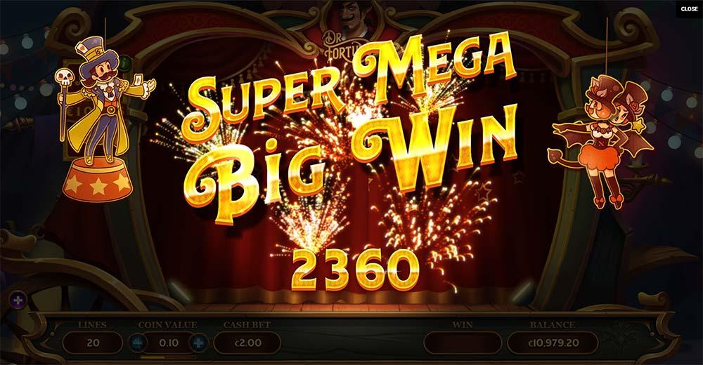 Dr Fortuno Slot - Super Mega Big Win