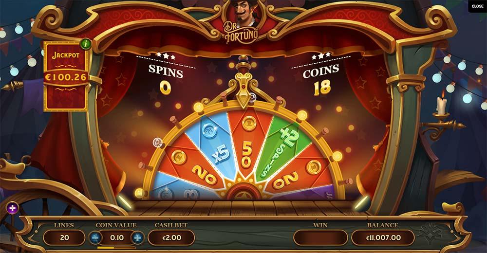 Dr Fortuno Slot - Jackpot Wheel
