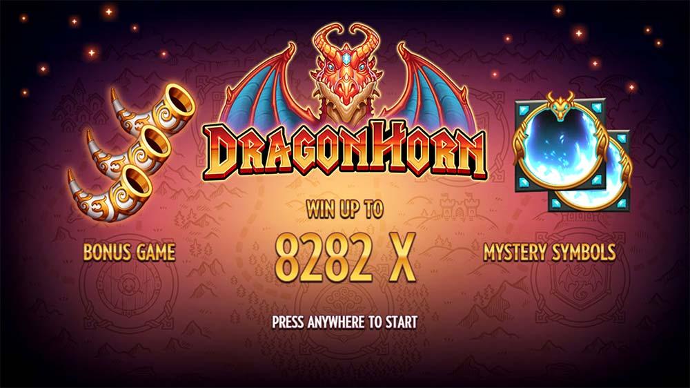 Dragon Horn Slot - Intro Screen