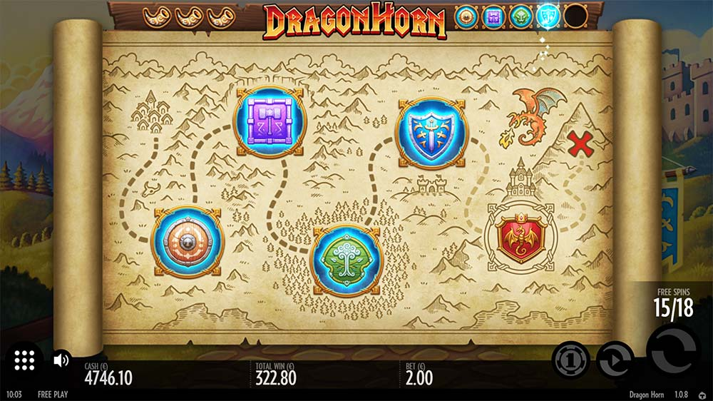 Dragon Horn Slot - Low Paying Symbol Removal Map