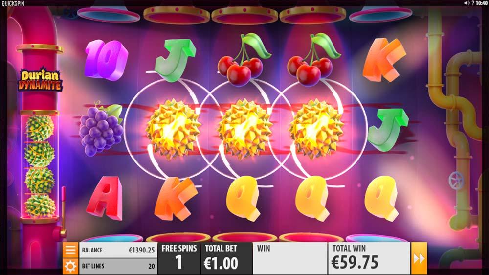 Durian Dynamite Slot - Dynamite Wild Feature