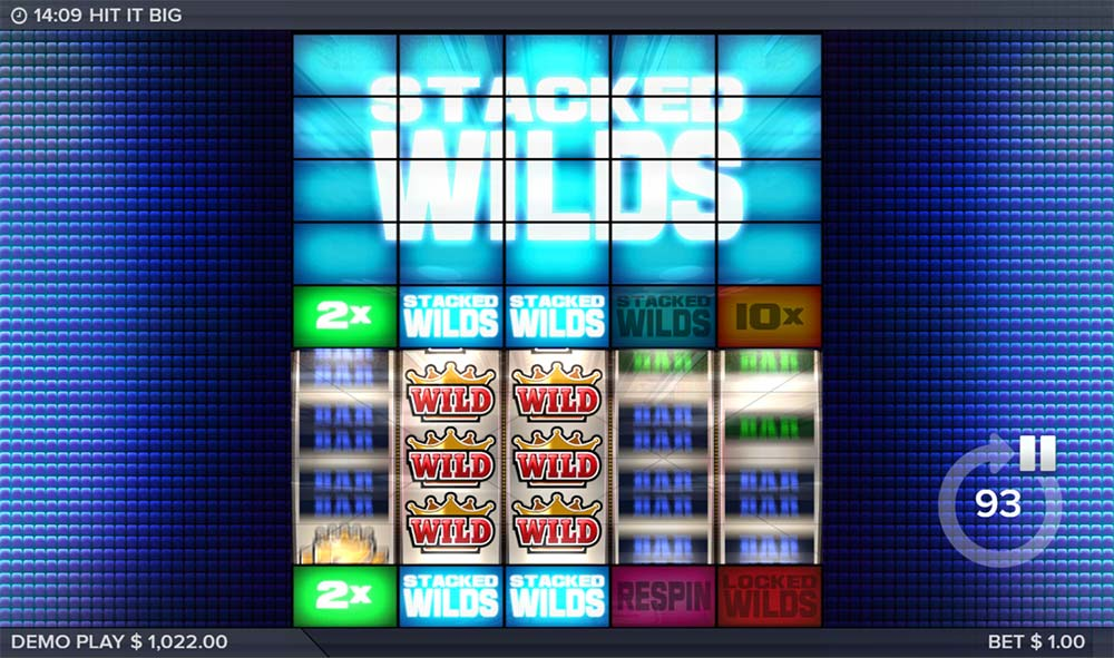 Hit It Big Slot - 2 Stacked Wilds
