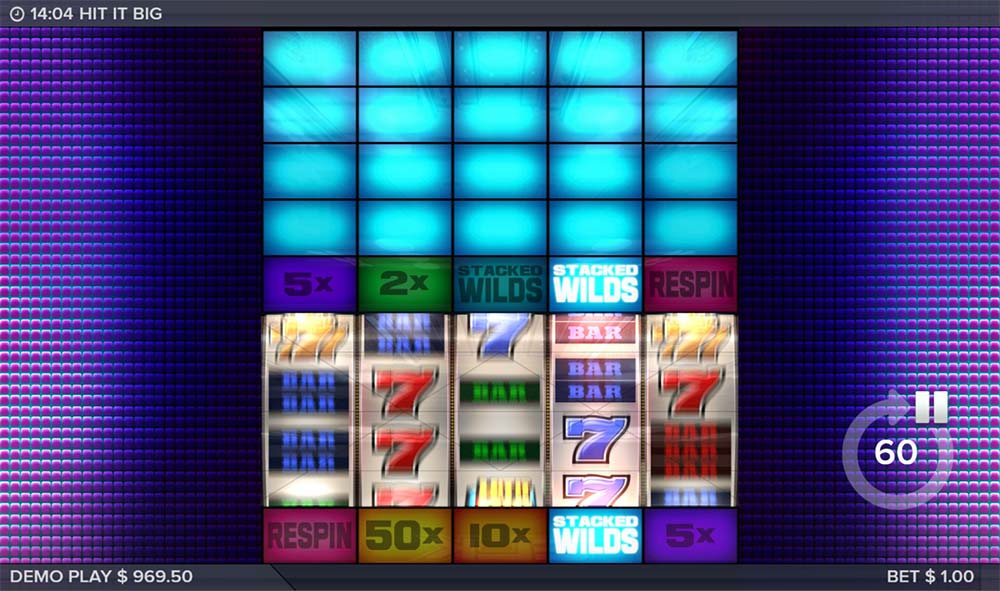 Hit It Big Slot - Stacked Wilds Triggered