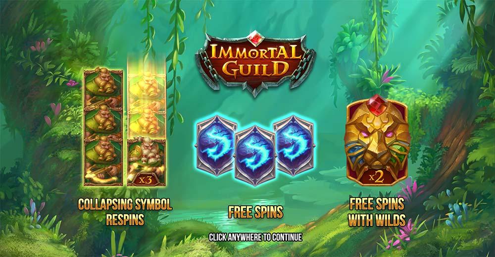 Immortal Guild Slot - Intro Screen