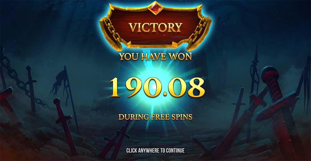 Immortal Guild Slot - Bonus End Result