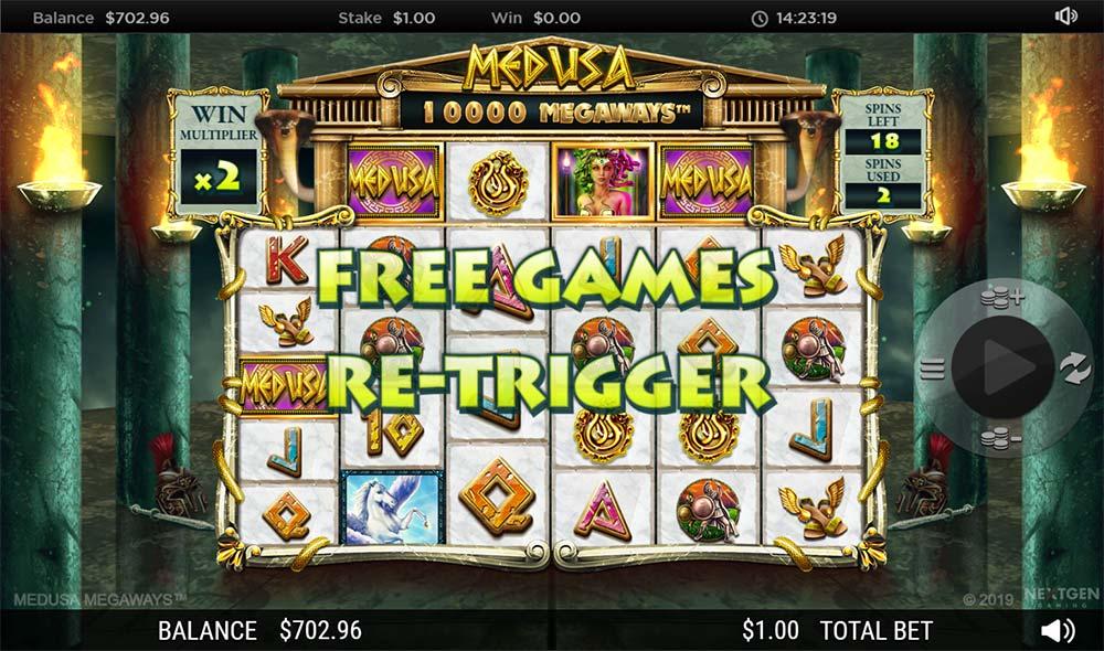Medusa Megaways Slot - Free Spins Re-Trigger