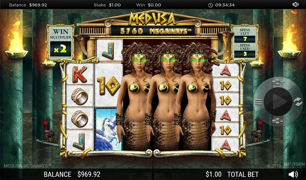 Medusa Megaways Slot - Added Wilds