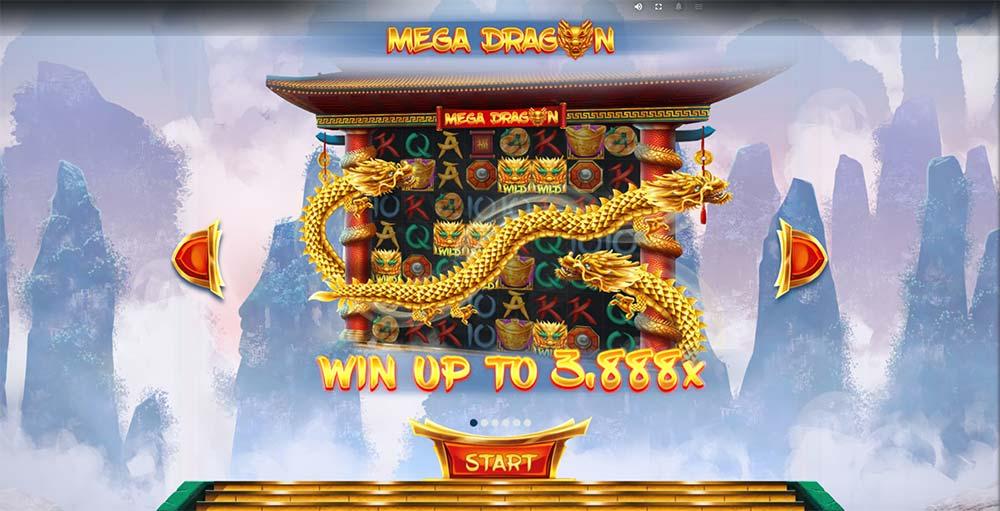 Mega Dragon Slot - Intro Screen