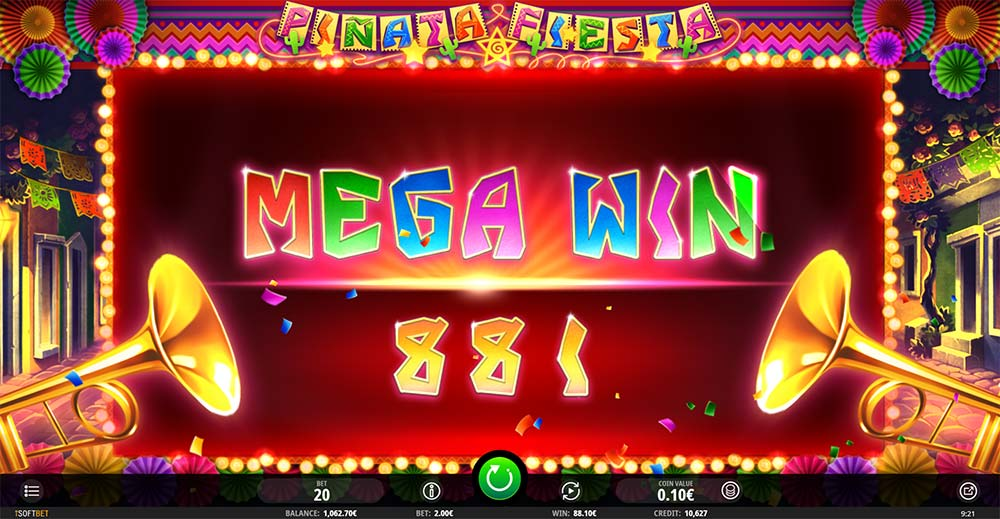 Pinata Fiesta Slot - Mega Win