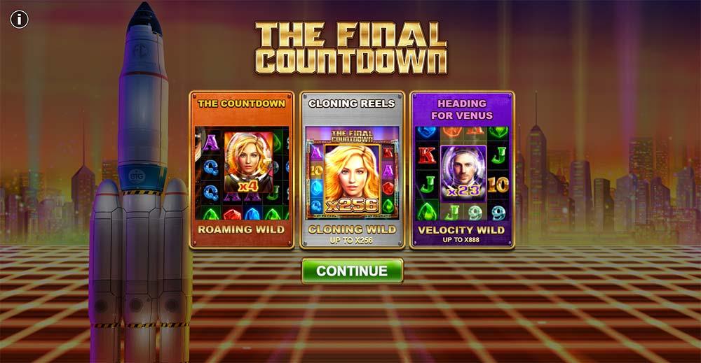 The Final Countdown Slot - Intro Screen