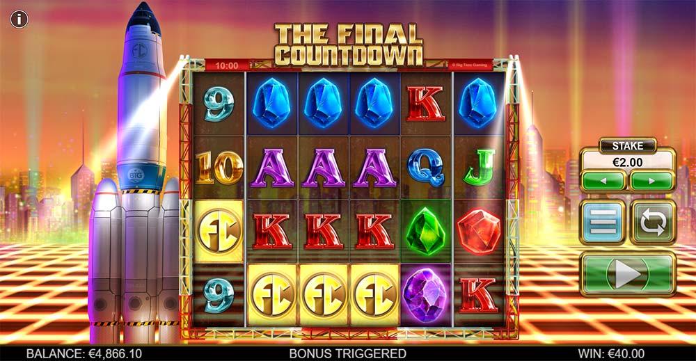The Final Countdown Slot - Bonus Trigger