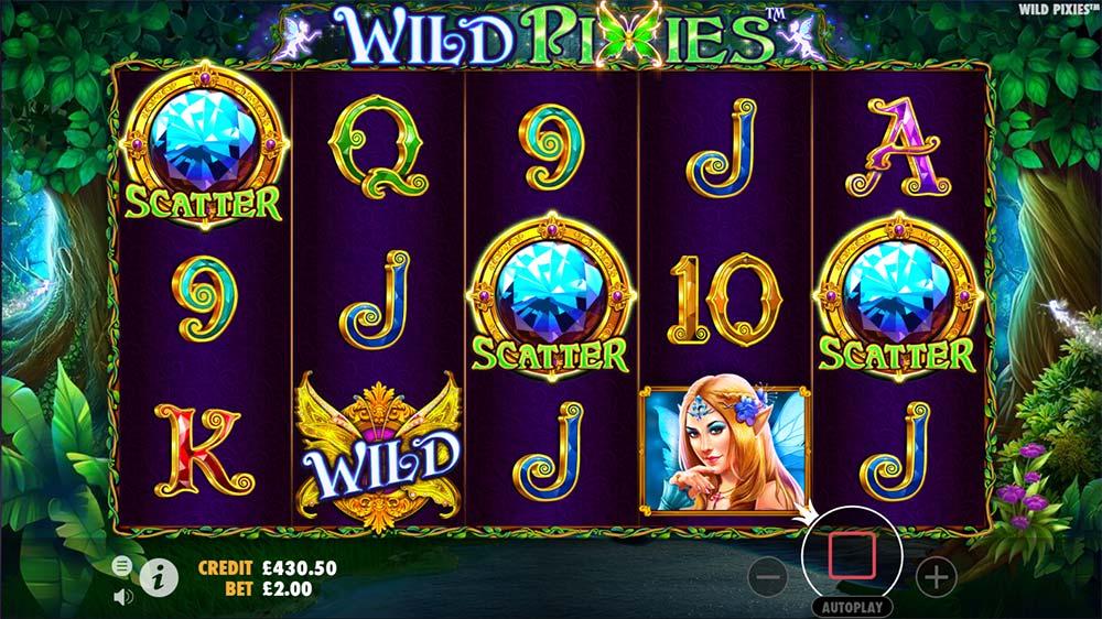 Wild Pixies Slot - Bonus Trigger