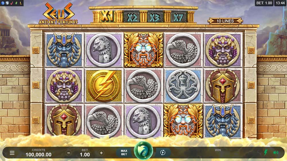 Ancient Fortunes: Zeus Slot - Base Game