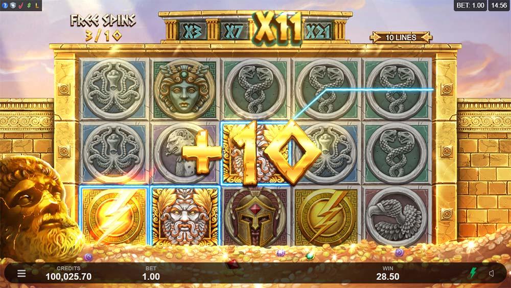 Ancient Fortunes: Zeus Slot - Bonus Re-Trigger