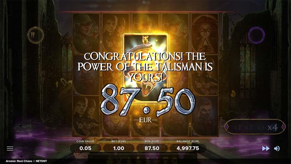 Arcane Reel Chaos Slot - Bonus End Result