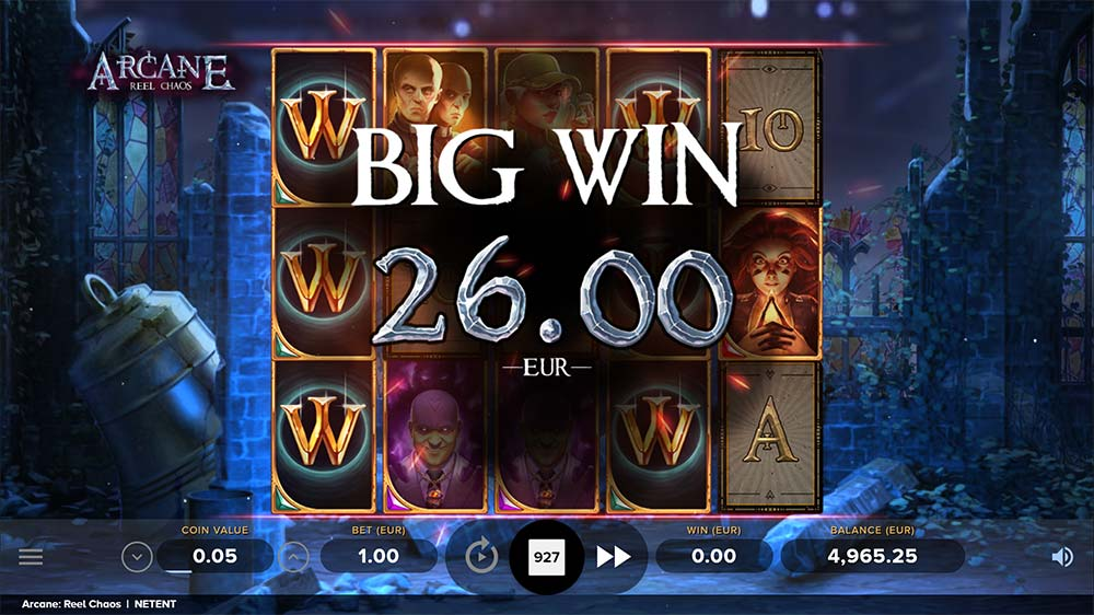 Arcane Reel Chaos Slot - Stacked Wilds feature
