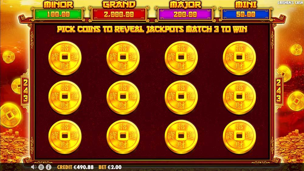 Caishen's Cash Slot - Jackpot Bonus Game