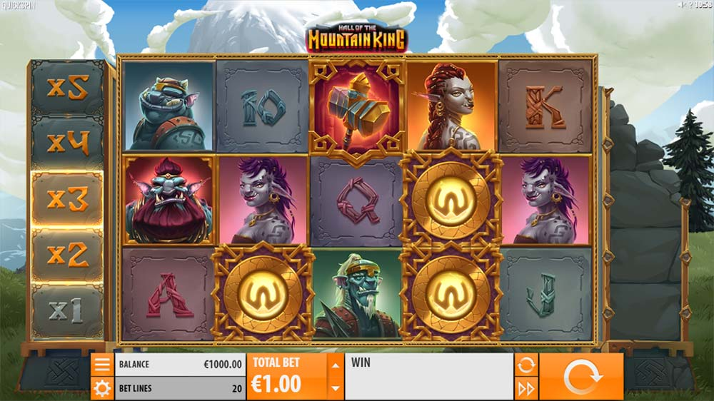 Hall of the Mountain King Slot - Base Game