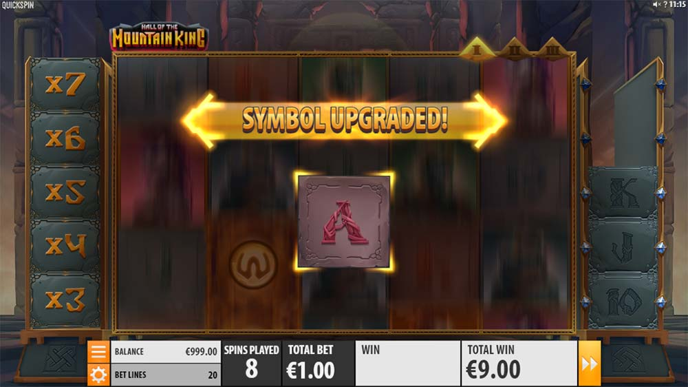 Hall of the Mountain King Slot - Symbol Upgrade