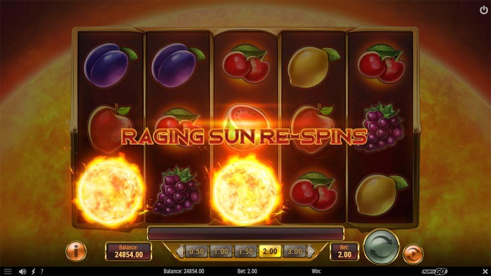 Inferno Star Slot - Raging Sun Re-Spins