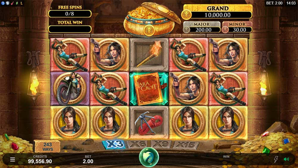 Lara Croft Temples and Tombs Slot - Free Spins