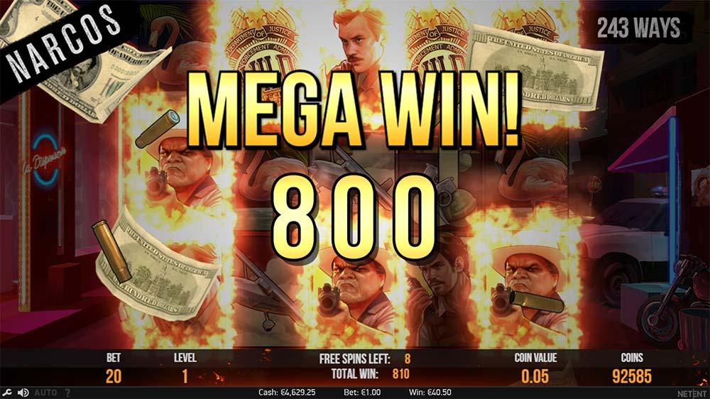 Narcos Slot - Mega Win