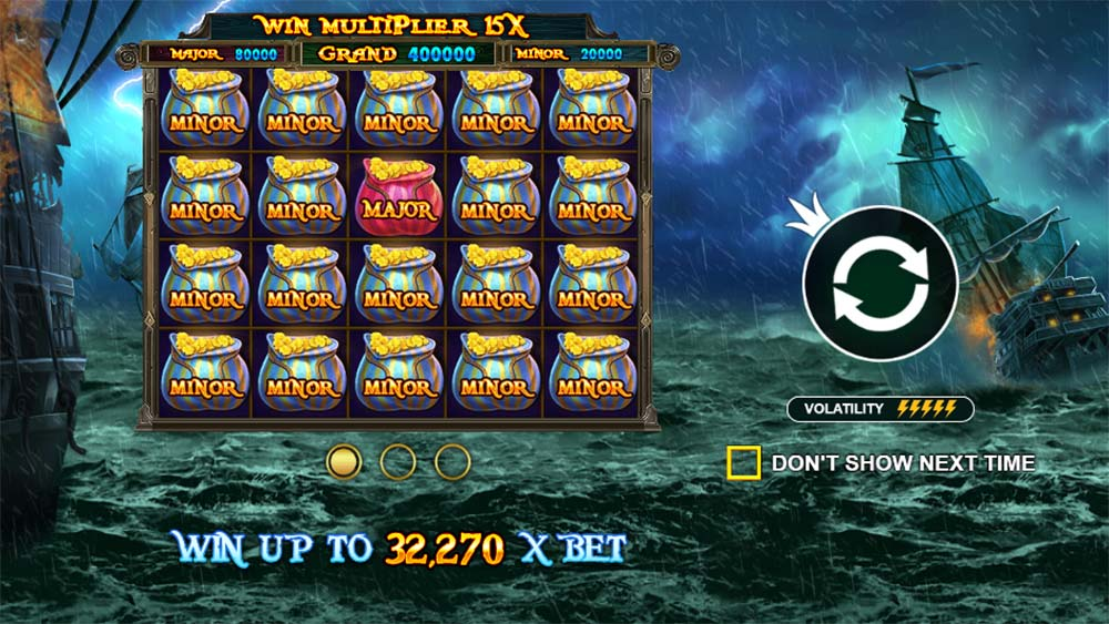 Pirate Gold Slot - Intro Screen