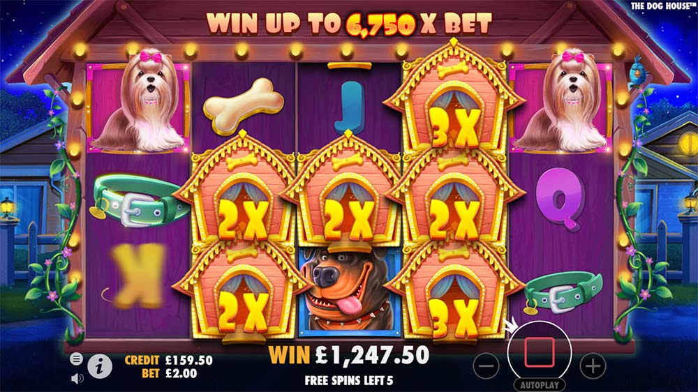 The Dog House Slot - Sticky Wild Free Spins